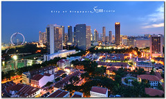 Kampong glam - city of singapore - pano 27 X 45cm (fiftymm99) Tags: city building heritage night lights flyer nikon singapore village estate bank housing jalan hdb malay bugis rochor d300 kampongglam saltan marinabaysands fiftymm99 gettyimagessingaporeq2