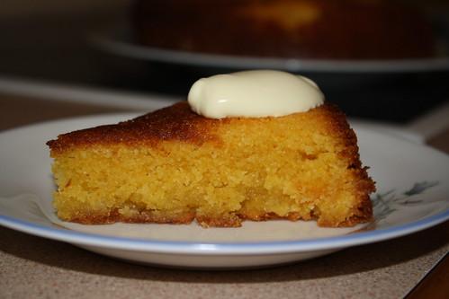 lemon & polenta cake