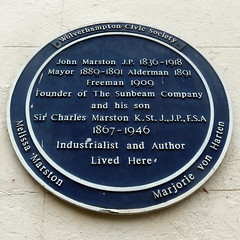 Photo of John Marston and Charles Marston blue plaque