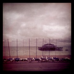 Burnt down pier, Brighton BN1