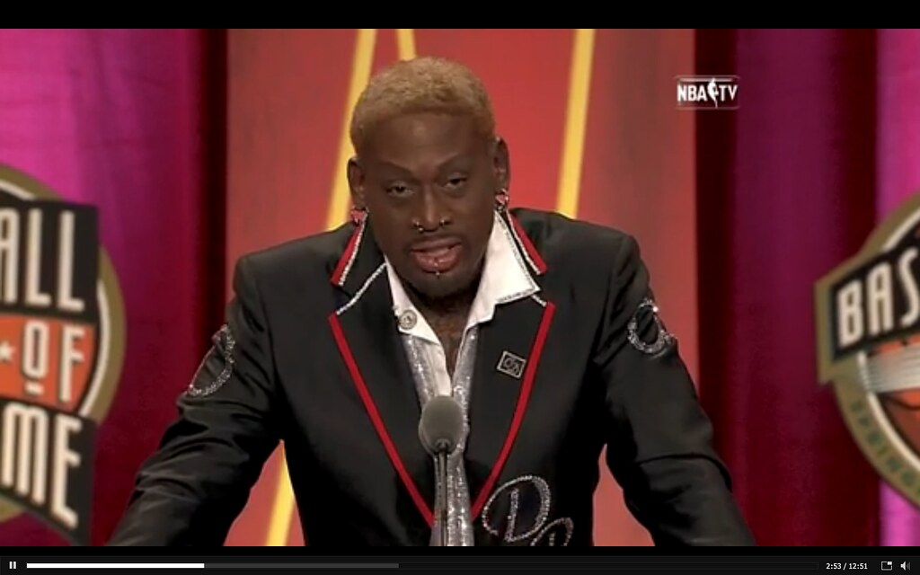 dennis rodman at the nba hall of fame