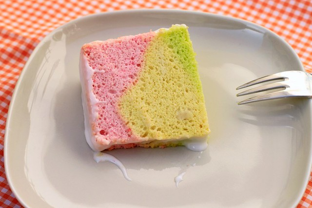 Rainbow Angel Food Cake