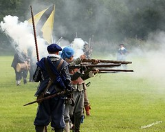 Firing Line (day_sargent) Tags: history scotland battle battlefield reenactment selkirk livinghistory warfare scottishborders sealedknot philiphaugh