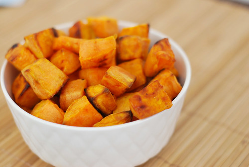 6043854890 5cec21fbc2 Coconut Oil Roasted Sweet Potatoes