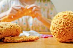 Yarn Season (neelgolapi) Tags: canon knitting crafts knit scissors yarn needles measuringtape purl 2470mm f28l explored xti heyteachcardigan