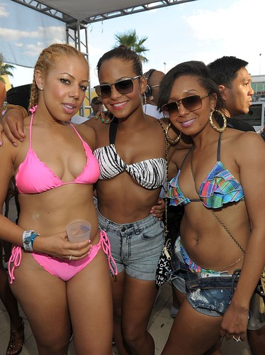 Christina Milian and her hot Gyal crew in vegas