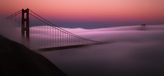 (exxonvaldez) Tags: sanfrancisco sunset fog night goldengatebridge marinheadlands sfist