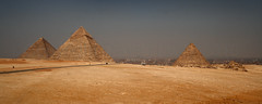 The Great Pyramids of Giza (Panorama 2), Cairo, Egypt (Copyright Dave Halley 2010) (Dave Halley) Tags: world pictures africa old panorama building heritage stone wall dave buildings giant photography photo site big construction sand ancient pyramid image photos memphis tomb great egypt picture large panoramas el images panoramic queen unesco east queens cairo photographs photograph arab seven massive egyptian pharaoh historical pyramids blocks walls middle giza tombs stacked wonders 2010 halley khufu cheops khafre chephren the constructed menkaure khafra