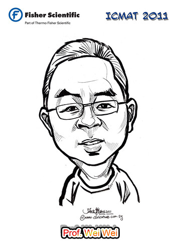 Caricature for Fisher Scientific - Prof. Wei Wei (David Wei) name revised