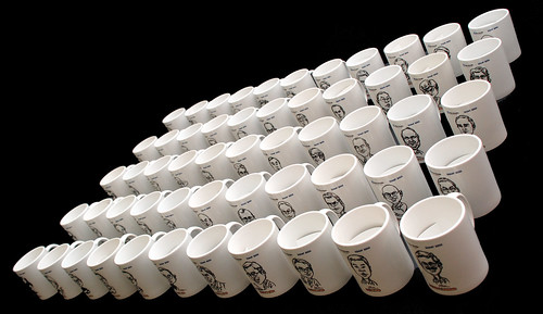 Caricatures printed on mugs for Fisher Scientific - 3