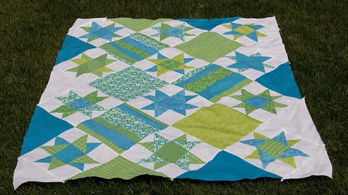 Swirling Stars Quilt Top