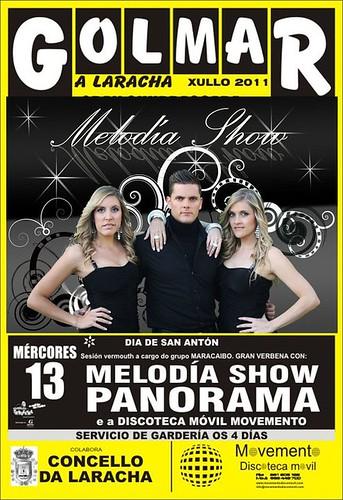 A Laracha 2011 - Festas de Golmar- cartel de Melodía Show