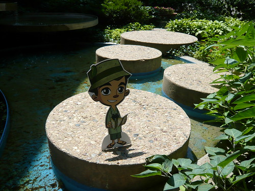Frankie Pickle on the Stepping Stones at the Lincoln, NE Public Library