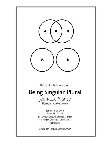 Poster Being Singular Plural