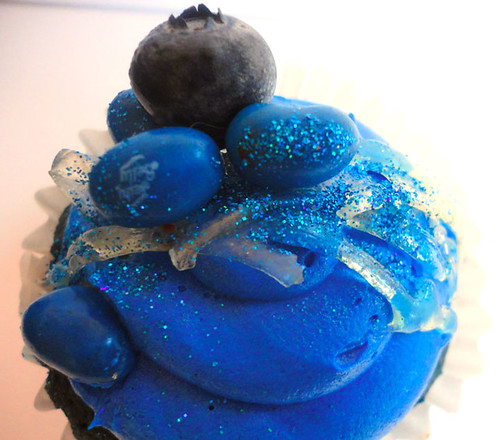 Blueberry Velvet-Jelly Belly Cupcake by msamandacupcake