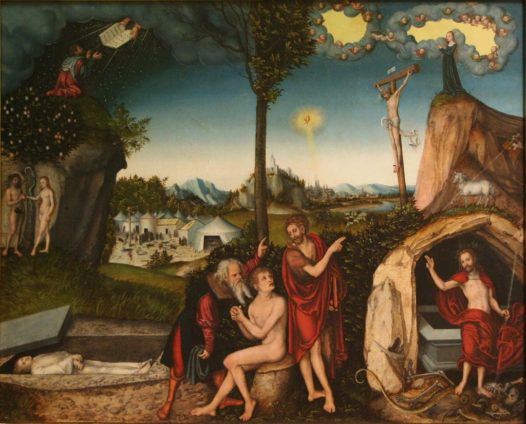 Lucas Cranach L'Ancien, La Loi et la Grâce (1529)
