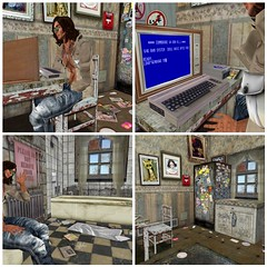 ANDREWS ZEBBERMAN, the creator of the poses ZEB&SLY  !  A visit at his office ! (mimi.juneau *Mimi's Choice*) Tags: fashion animations poses mimijuneau ziamelaloon zebsly andrewszebberman