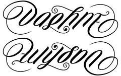 """""""Daphne"""" & """"Wilson"""" Ambigram"""