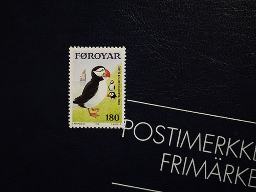 Puffin Stamp, Faroe islands by migi328
