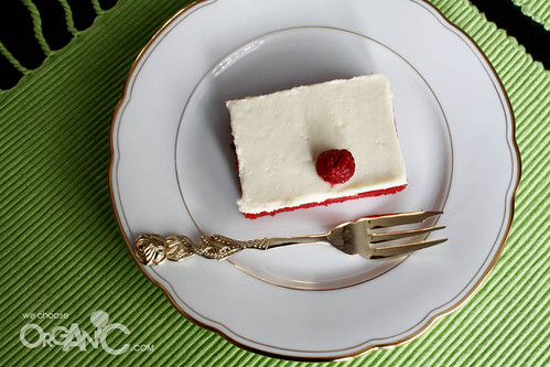 red velvet cake - sheet cake - adapted from Pioneer Woman