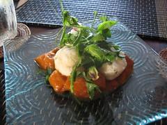 Gnocchis avec aubergine et herbes du jardin