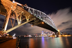 Crossing the Harbour (willx1788) Tags: bridge night point harbour sydney milsons