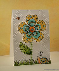 Big flower Summery scene (luv2scrapnat (Natalie)) Tags: summer arts sew we card r memory hero easy keepers cl218 cl375 cl444 july2011a july2011bbadge