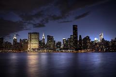 Manhattan Skyline (Tim Drivas) Tags: newyork skyline river manhattan east queens gothamist hdr longislandcity gantryplaza