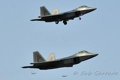 Alaska ANG Lockheed Martin F-22A Raptors  07-4147 (lower) and 07-4150 (above) (Bob Garrard) Tags: alaska martin air guard national raptor ang lockheed anc f22a