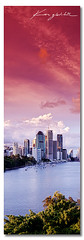 Our Town - Brisbane Australia ([ Kane ]) Tags: city red sky green water canon buildings landscape cityscape australia brisbane qld queensland redsky kane australianlandscape 31 brisbanecity kangaroopoint gledhill southeastqueensland kanegledhillphotography wwwkanegledhillcomau panoramiclandscpaephotography