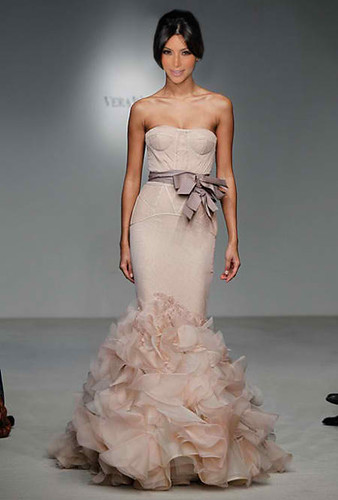 New Vera Wang Wedding dress for Kim Kardashian