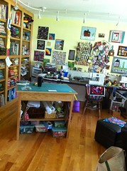 A relatively clean sewing room