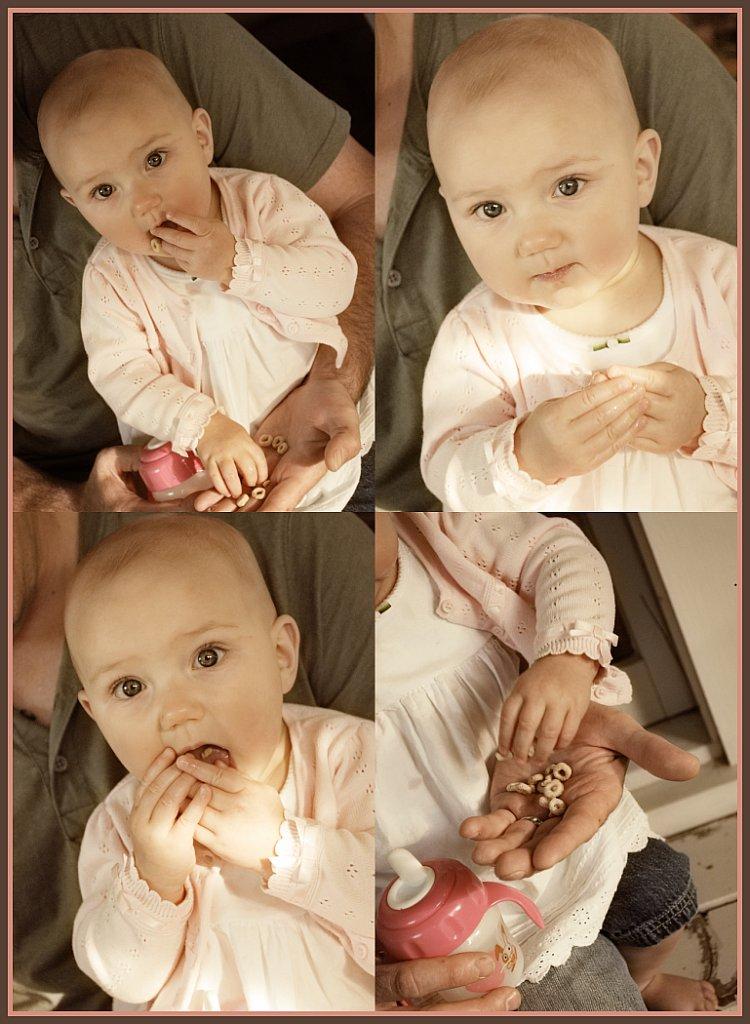 Lola eats Cheerios