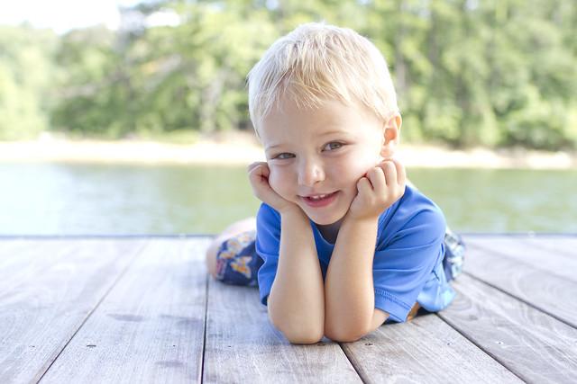 Blake on dock