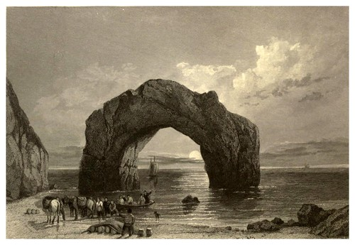 007- Arco de Roca en la isla de Wight-Stanfield's coast scenery…1836- Clarkson Stanfield