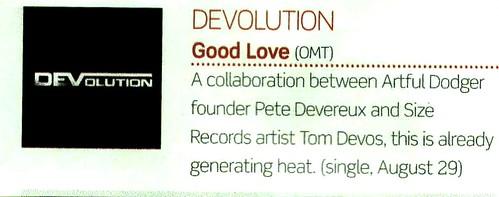 DEVolution - Music Week
