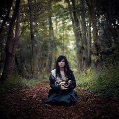 cradle (Rosie Anne) Tags: portrait leaves self skulls woods bokeh path cradle