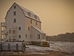 Woodbridge Tide Mill in Winter (Chris Owens Images) Tags: winter snow sunrise dawn woodenbuilding woodbridge tidemill riverdeben