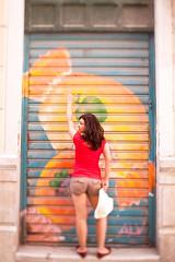 Nanna (Paul Krol) Tags: portrait blur girl graffiti spain colours shift tilt malaga tiltshift torontophotographer 5dii canon5dmarkii canon45mmf28 paulkrolphotography nannaminasyan