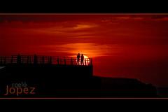 (jopez _fotografia) Tags: sunset red summer orange sun sol contraluz de spain personas verano puesta siluetas santander cantabria jorgelpez jopez