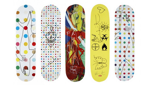 Damien Hirst Skateboards