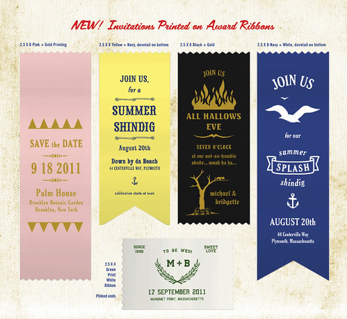 Award Ribbon Invites by Earmark Invitations