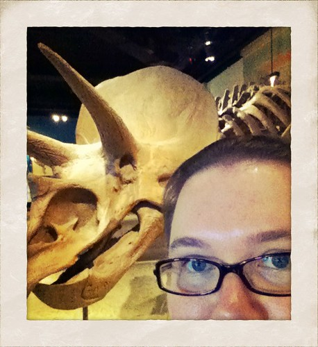 Portrait with Triceratops