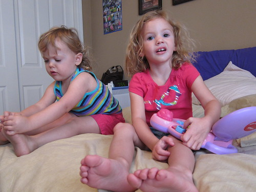 What is it with toddler's obsession with their feet?