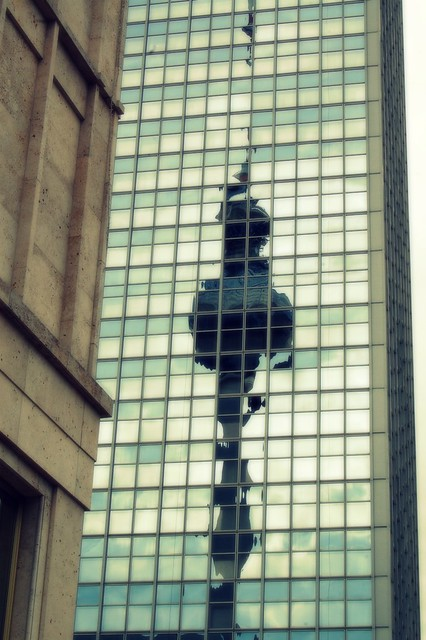 TV tower reflection
