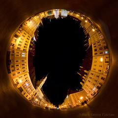 """O"" (hgviola ) Tags: panorama night nikon nacht o eger tschechien tokina czechrepublic polar nuit march notte malam marktplatz pasar marketsquare cheb bhmen buchstabe d80 ceskrepublika 1116mm buchstabeo"