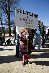BeltLine rally girl (by: Christopher T Martin)