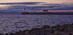 Glorious Morning in Canal Park, Duluth (Paul Domsten) Tags: park morning lighthouse lake water sunrise canal rocks pentax peaceful superior duluth kx lighthousetrek