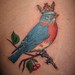 birdcrowncherriesctattoo