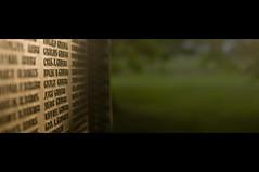 Gilbert (Homemade) Tags: memorial dof bokeh connecticut ct gilbert names warmemorial ridgefield civilwarmemorial nikkor3570mmf28 concretewindows eveningsummersun